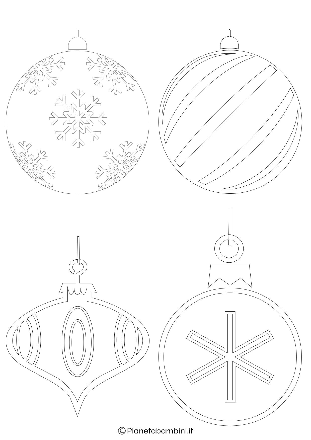 Palline di Natale da stampare 4