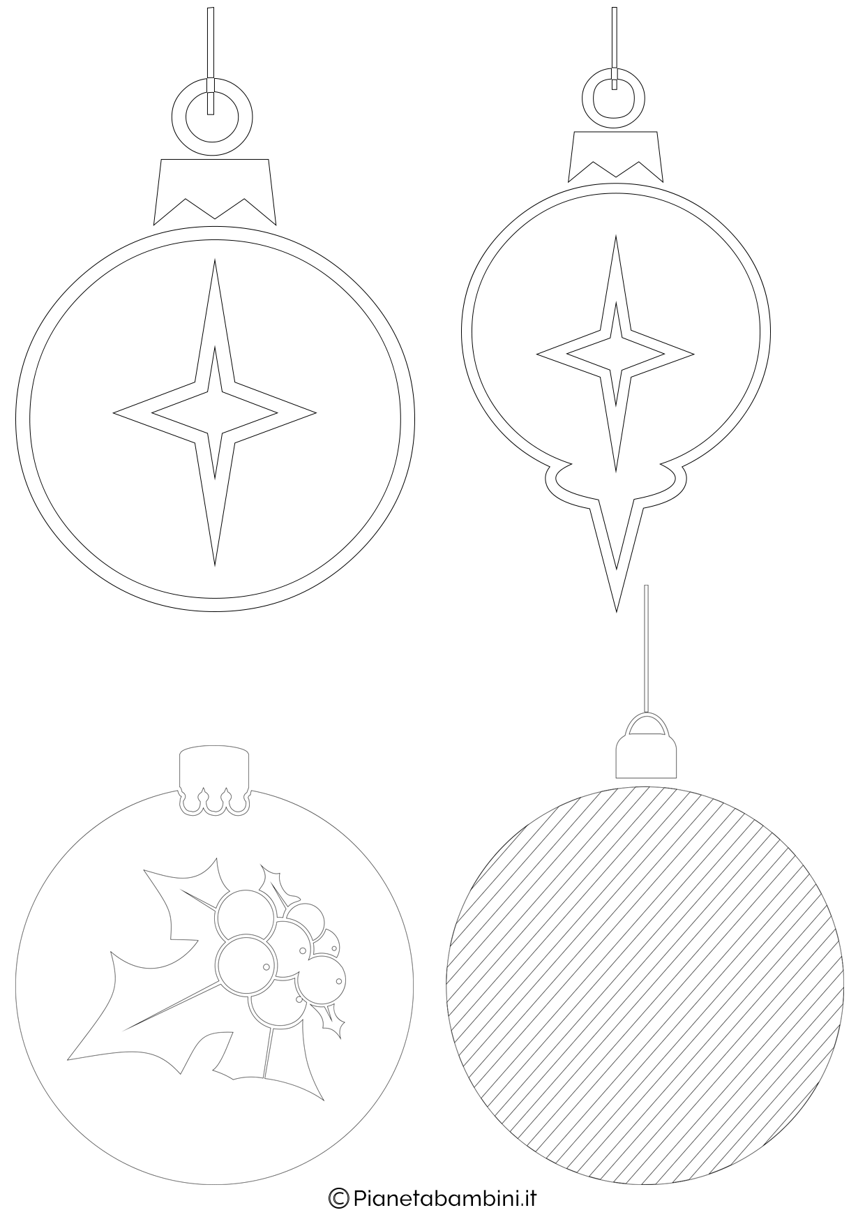 Palline di Natale da stampare 5