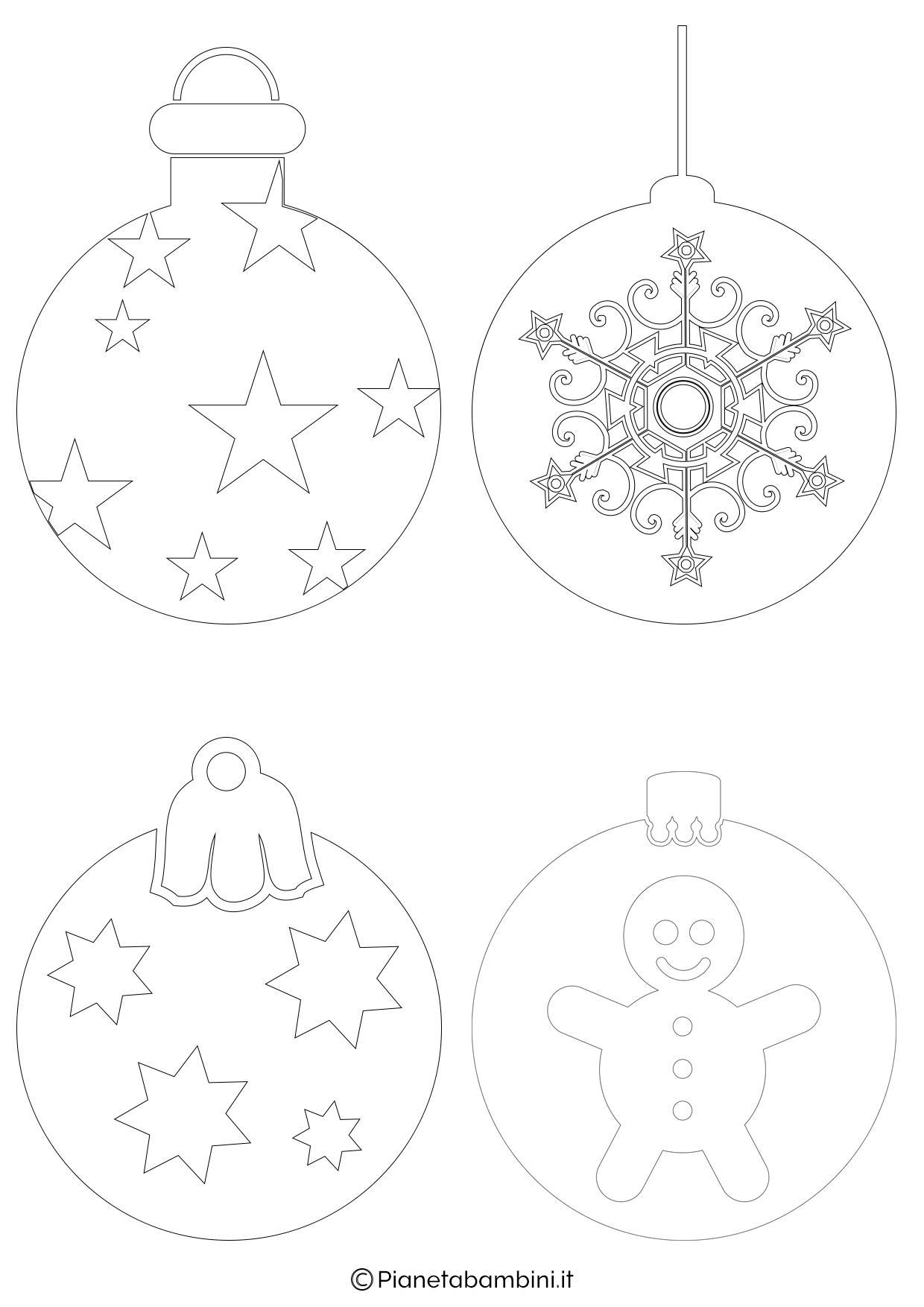 24 Disegni Di Palline Di Natale Da Stampare E Colorare
