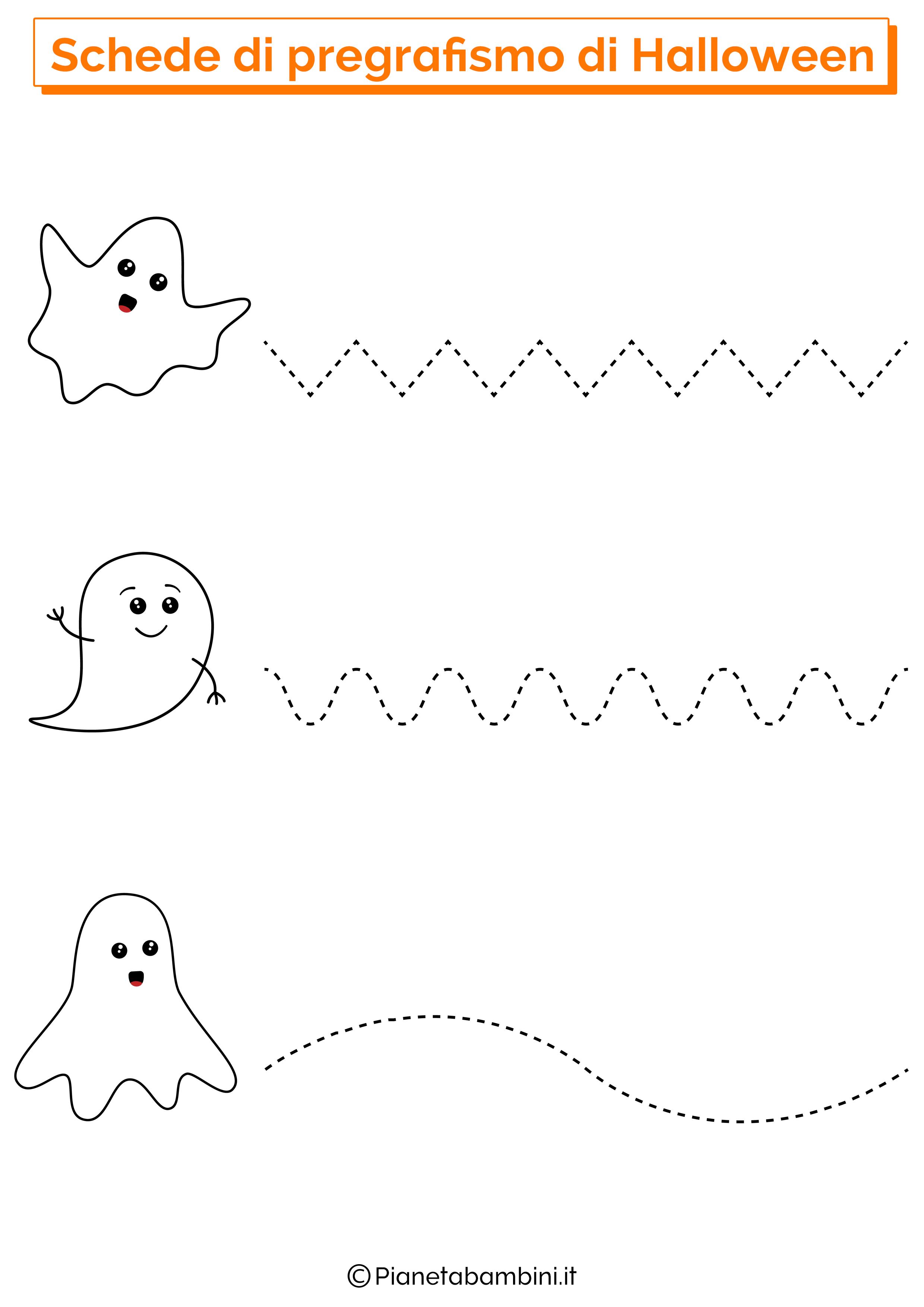 Scheda Pregrafismo Linee Halloween 1