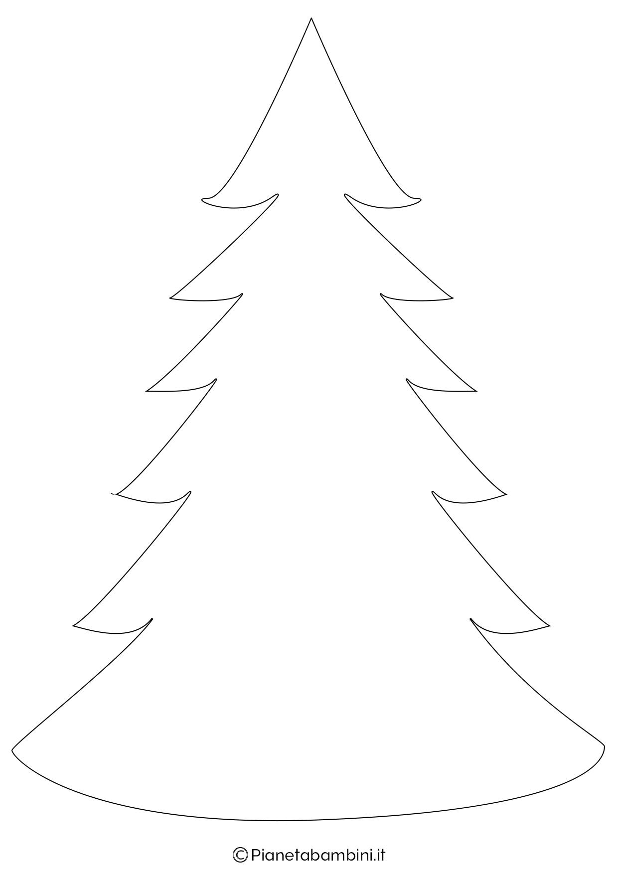Albero Di Natale Immagini Da Colorare.24 Sagome Di Alberi Di Natale Da Stampare E Ritagliare Pianetabambini It