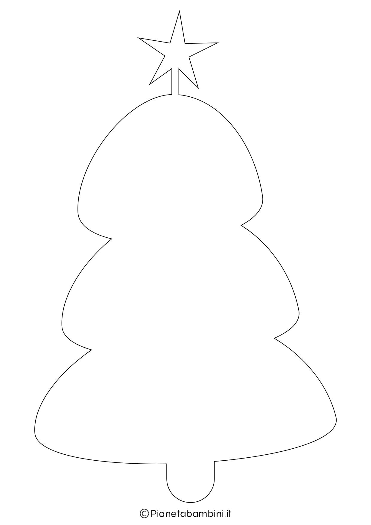 Albero Di Natale Da Colorare E Stampare.24 Sagome Di Alberi Di Natale Da Stampare E Ritagliare Pianetabambini It