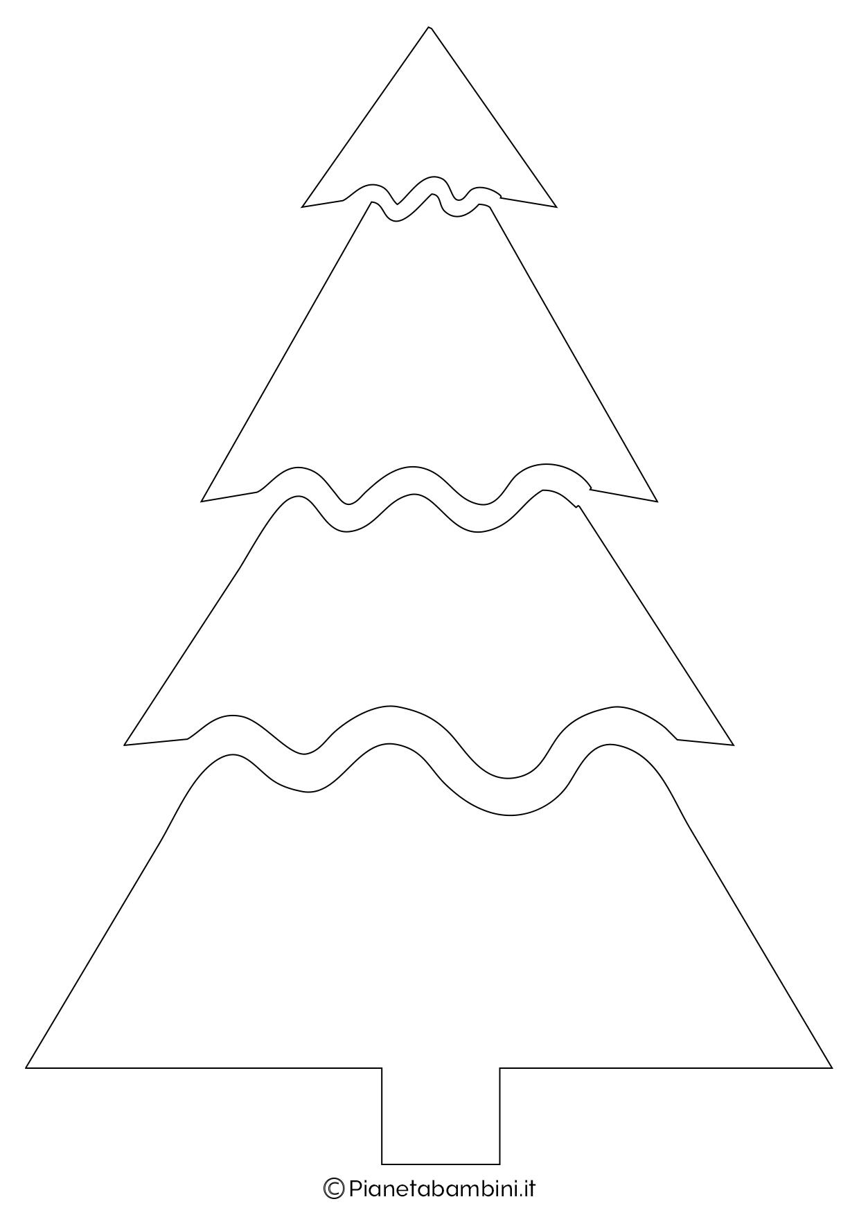 Eccezionale 24 Sagome di Alberi di Natale da Stampare e Ritagliare  VU73