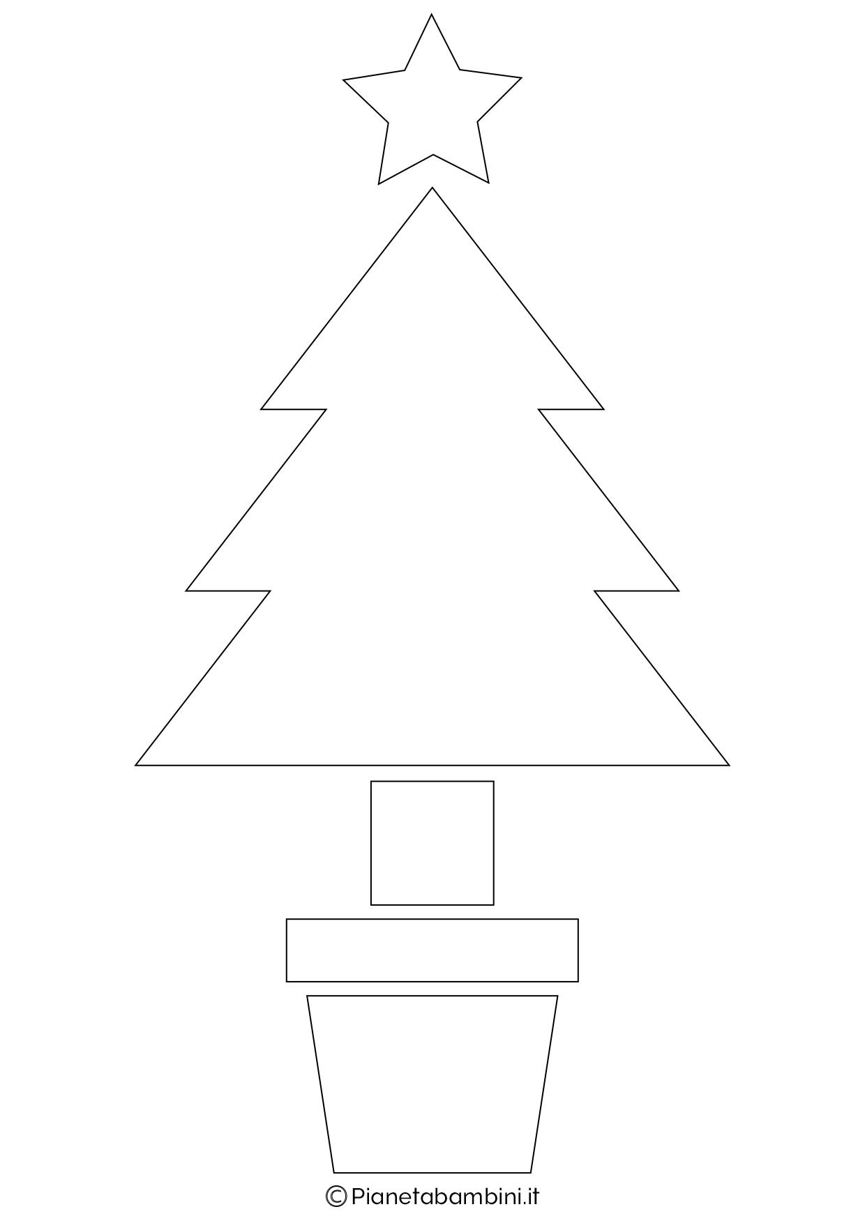 Alberi Di Natale Stilizzati Immagini.24 Sagome Di Alberi Di Natale Da Stampare E Ritagliare Pianetabambini It