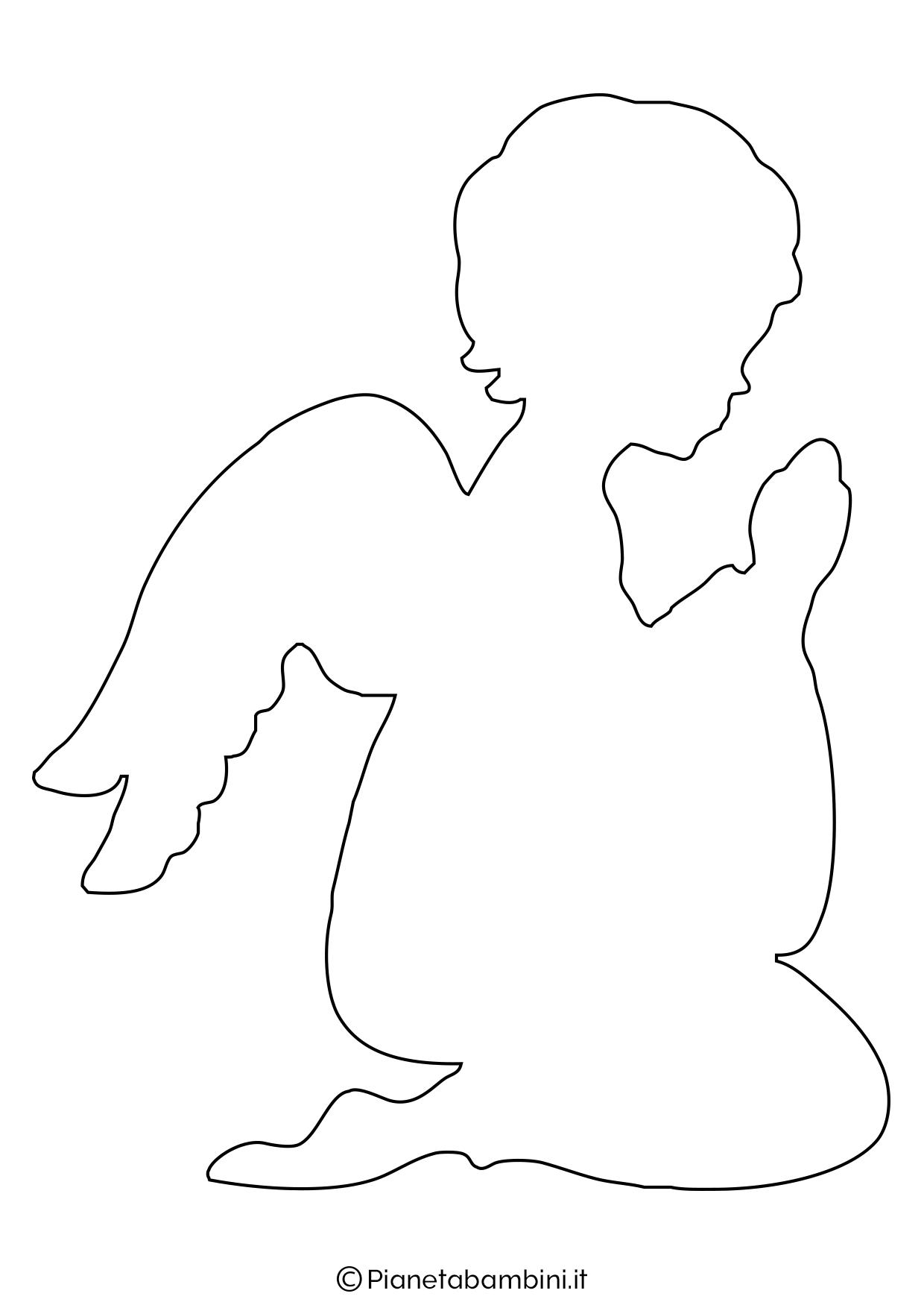 Sagoma angelo da stampare 05