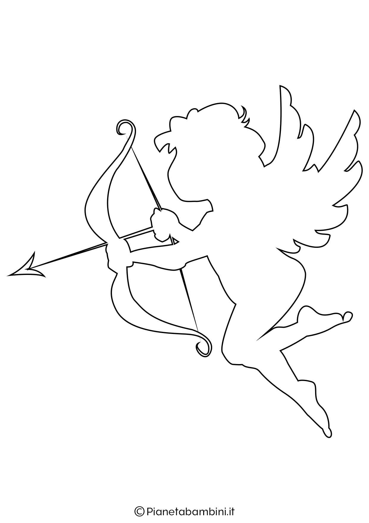 Sagoma angelo da stampare 07
