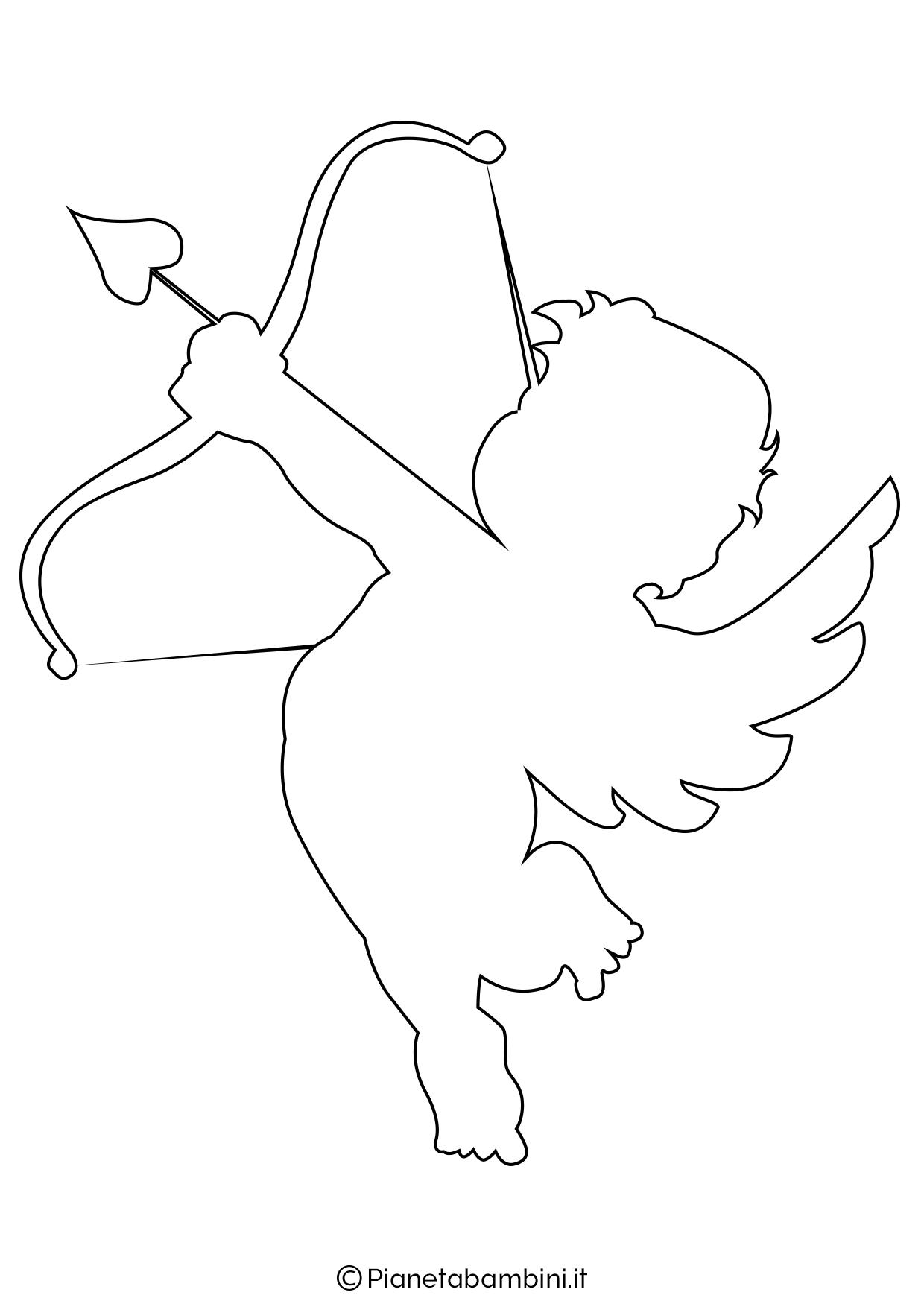 Sagoma angelo da stampare 08