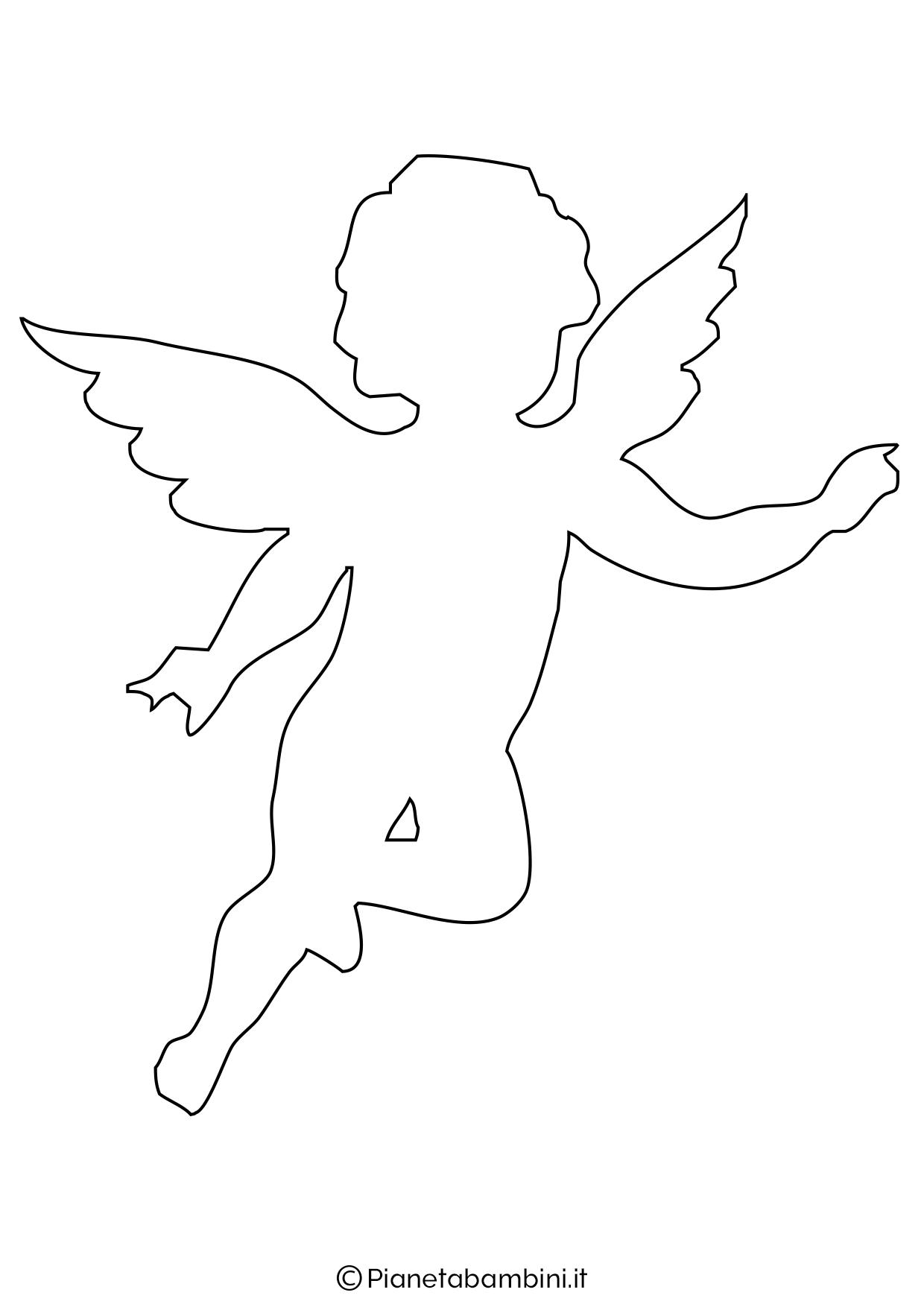 Sagoma angelo da stampare 09