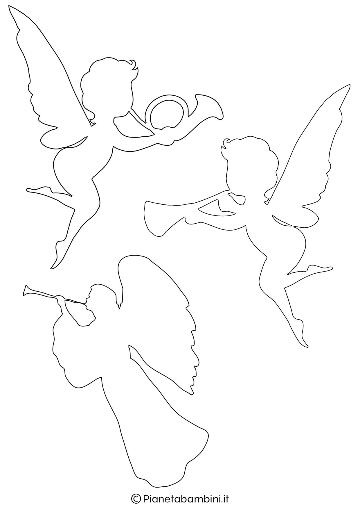 Sagoma angelo da stampare 11