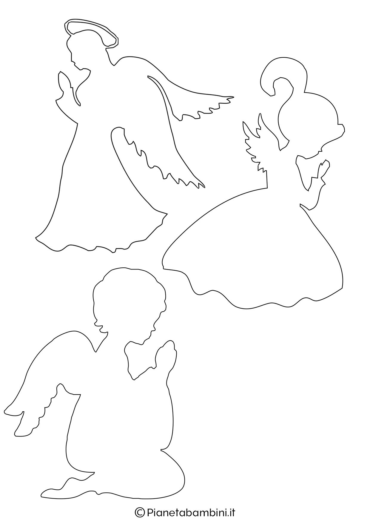 Sagoma angelo da stampare 12