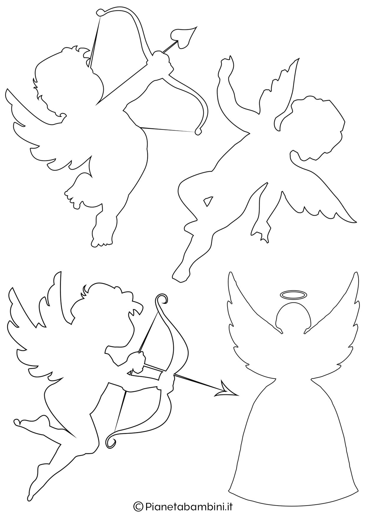 Sagoma angelo da stampare 13