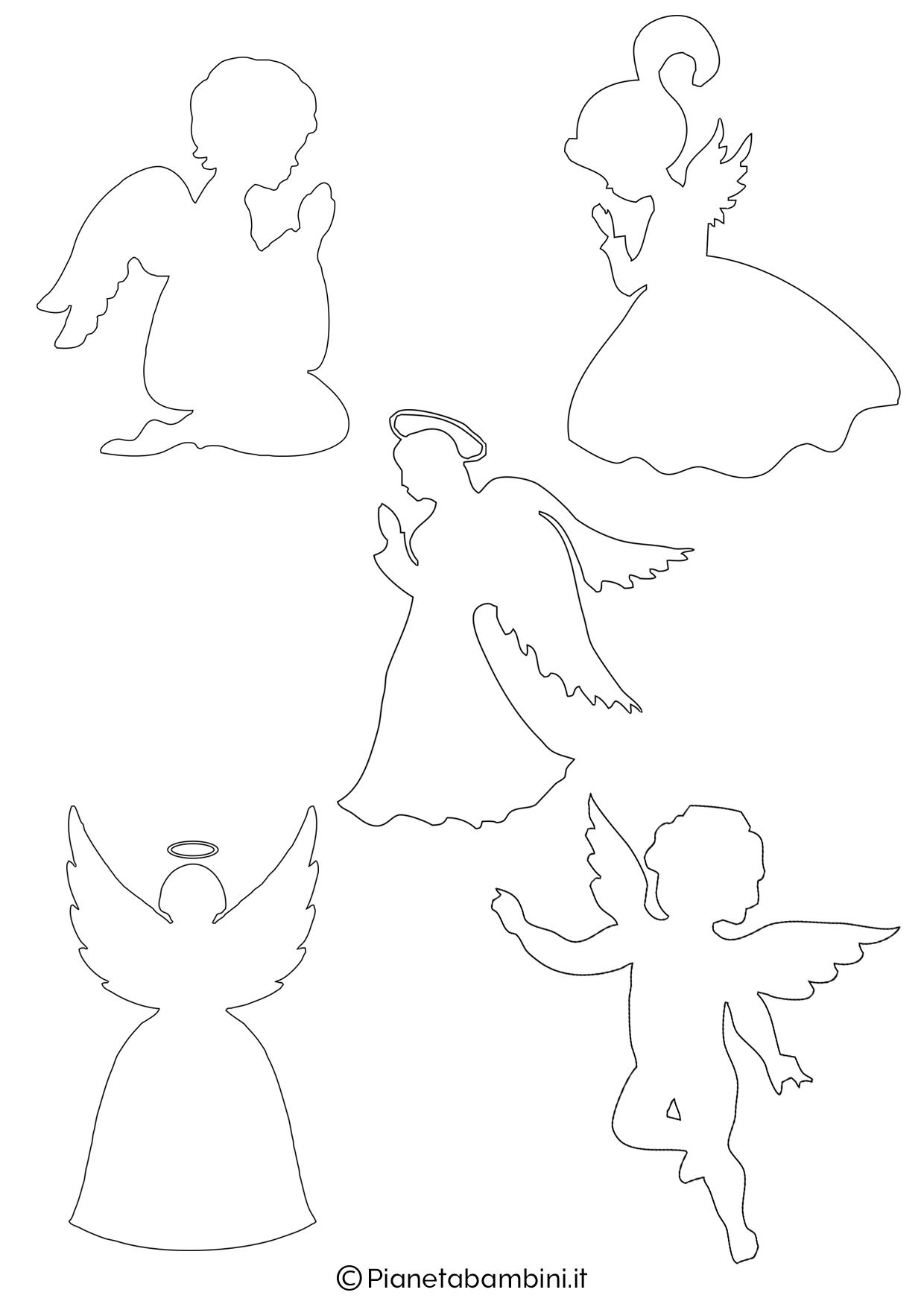 Sagoma angelo da stampare 15