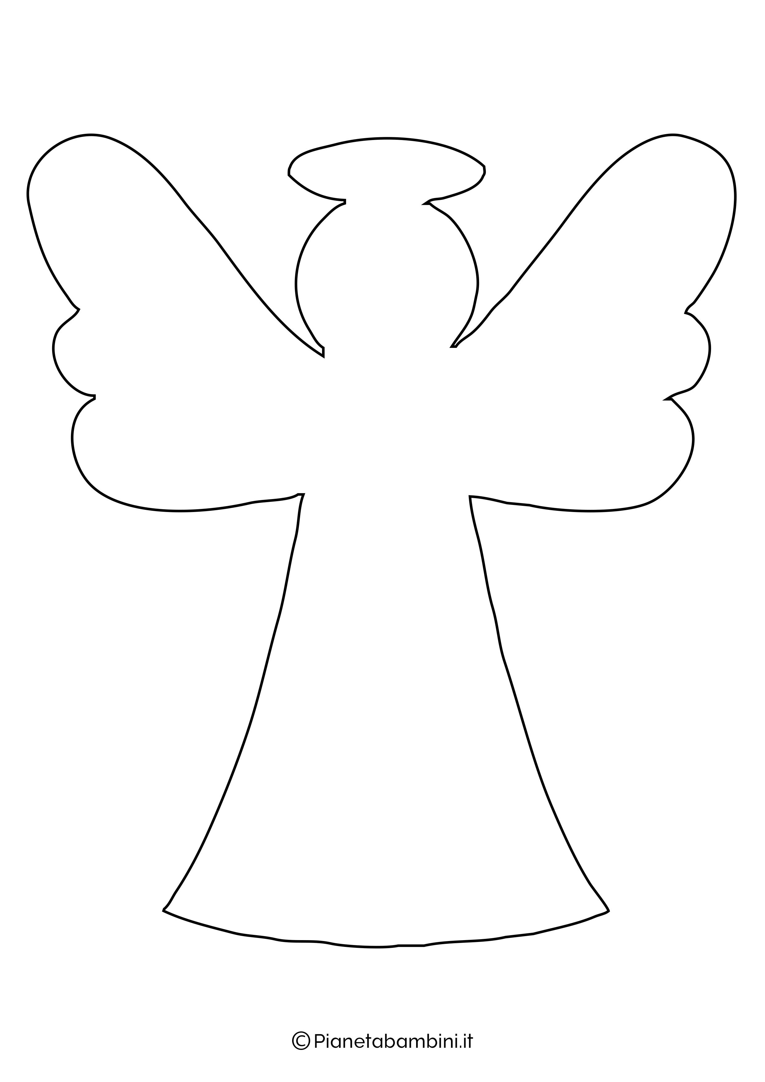 Sagoma angelo da stampare 17