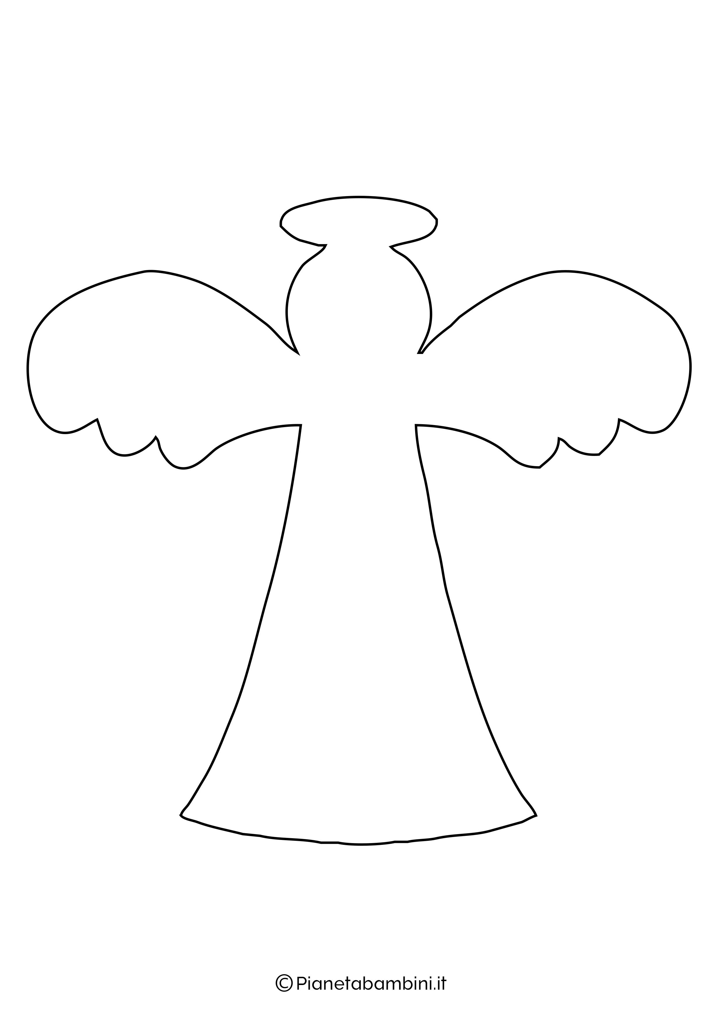 Sagoma angelo da stampare 18