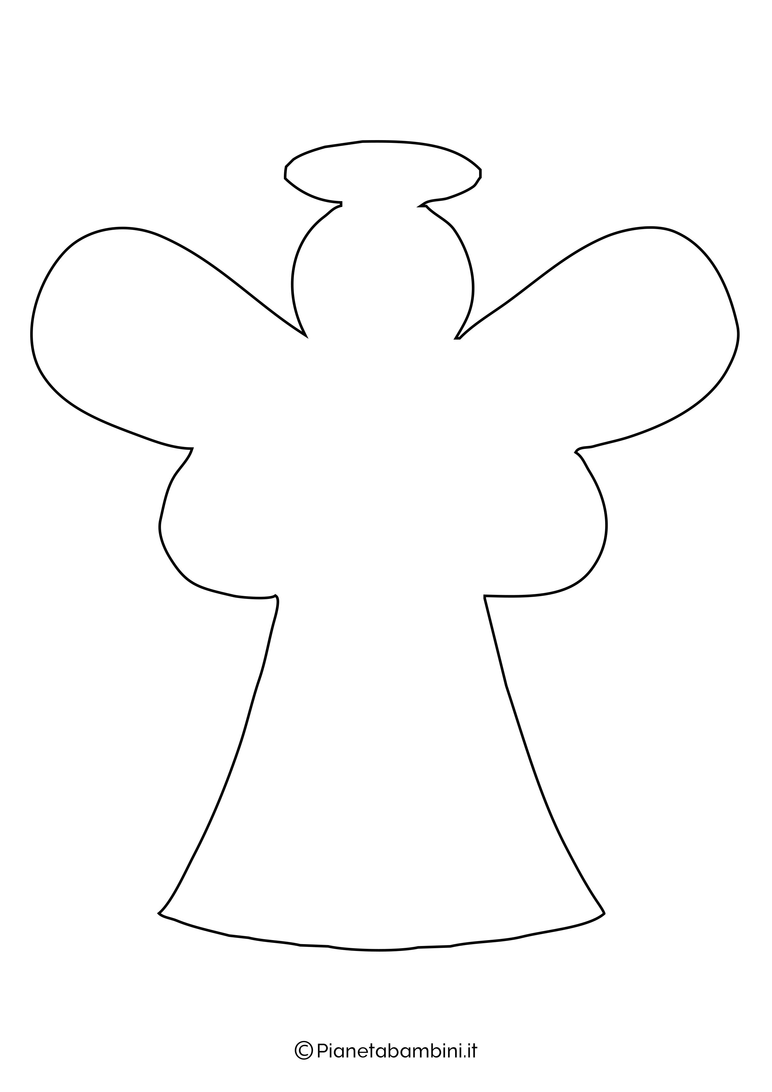 Sagoma angelo da stampare 19
