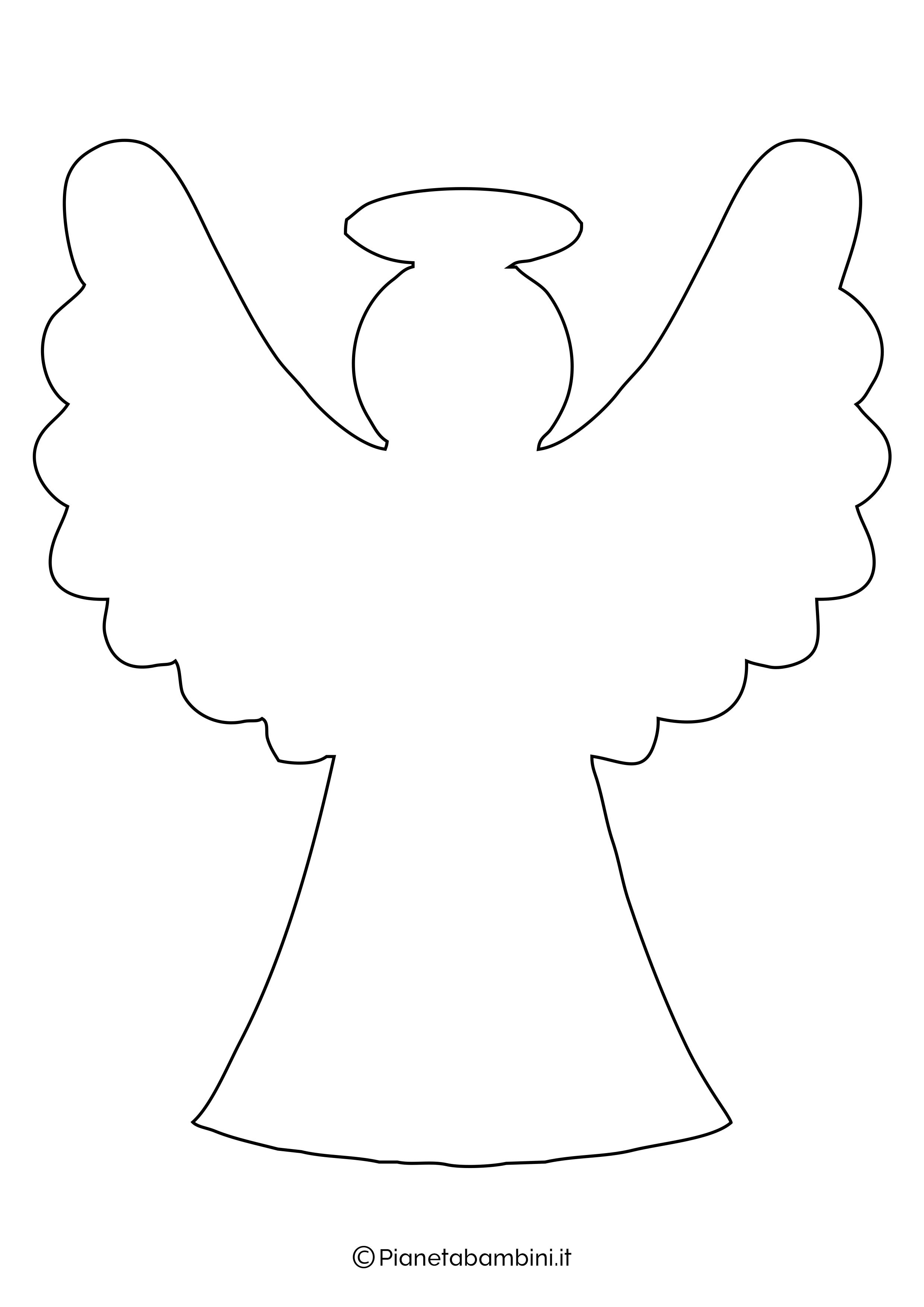 Sagoma angelo da stampare 20