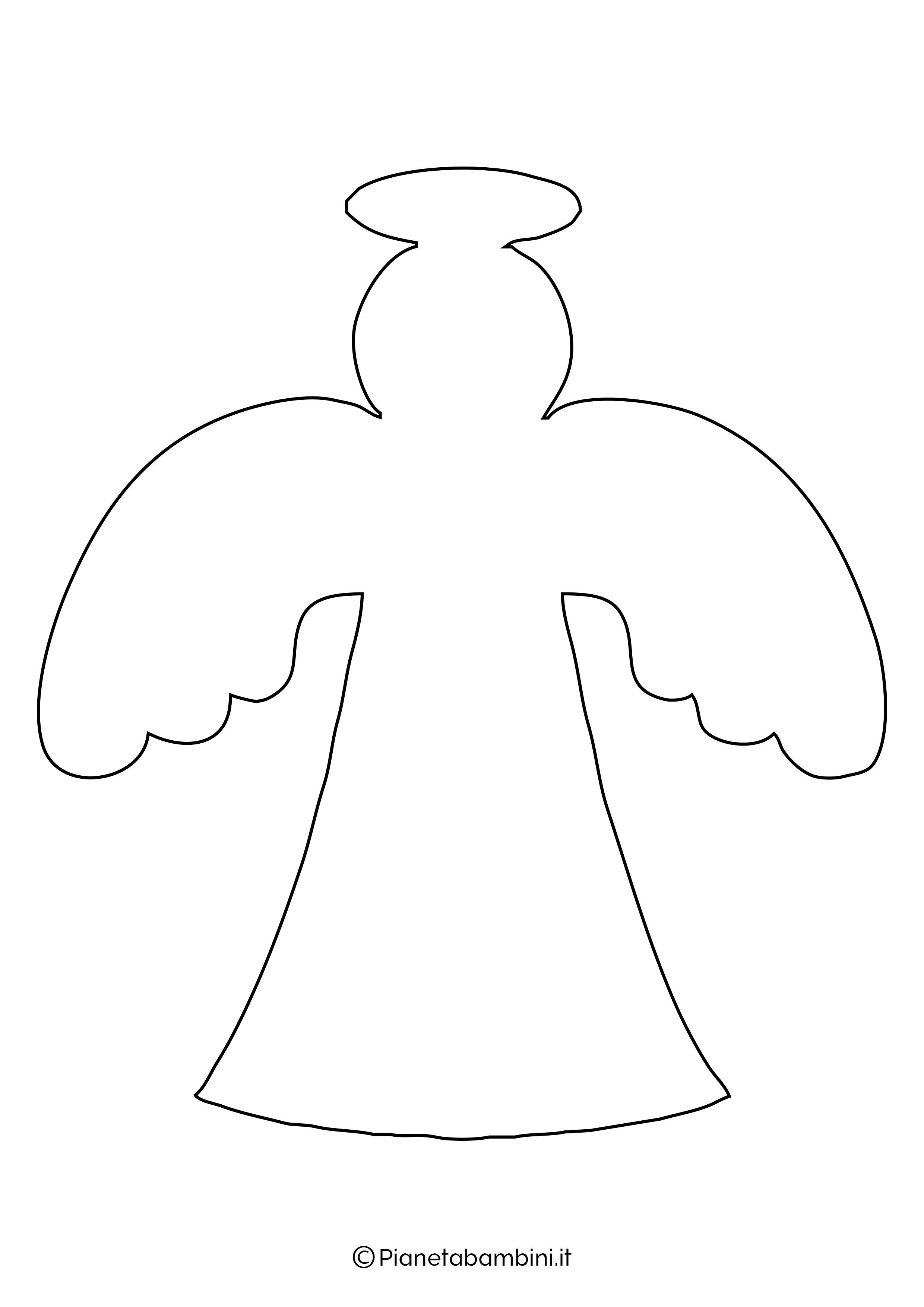 Sagoma angelo da stampare 22
