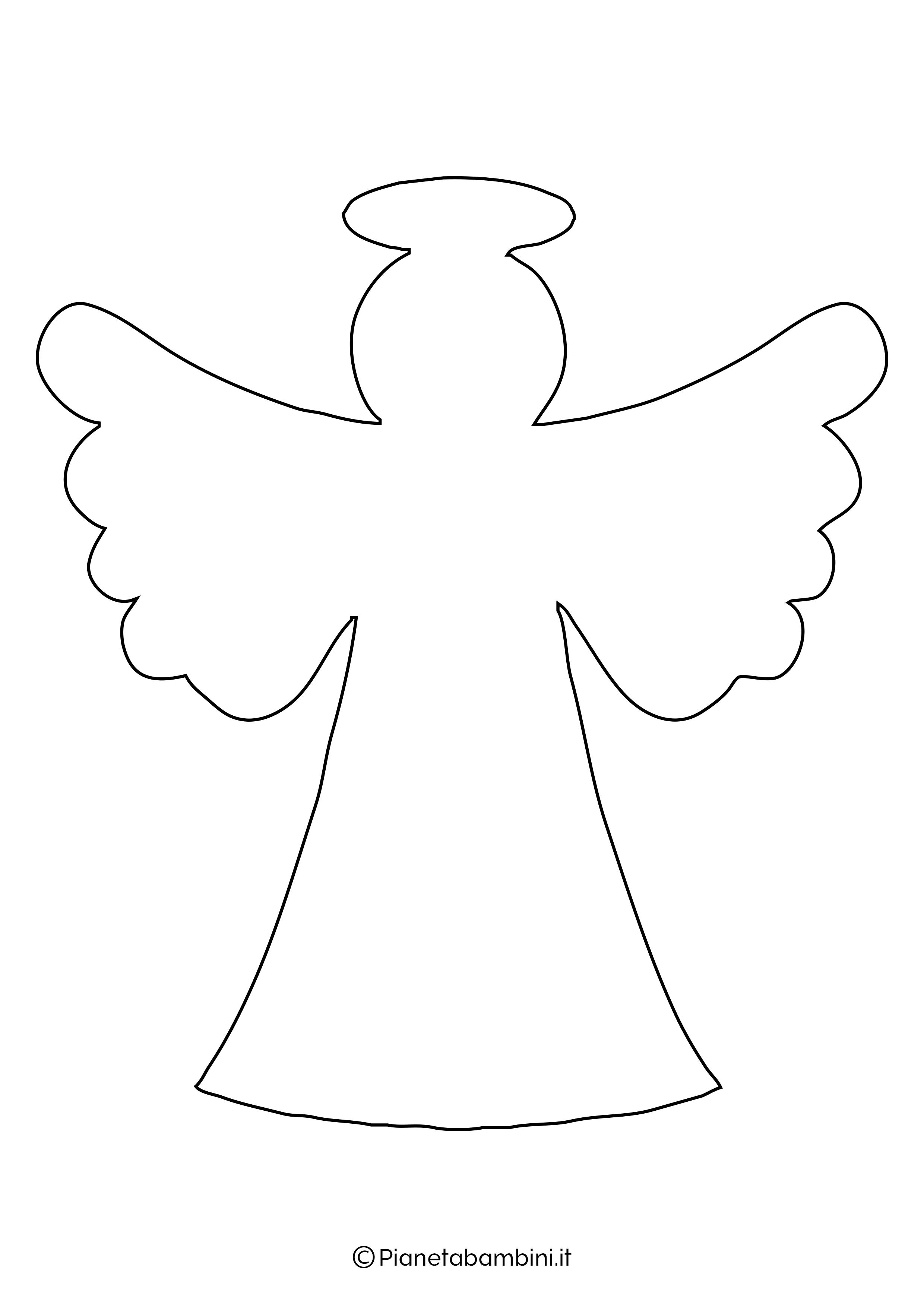 Sagoma angelo da stampare 23