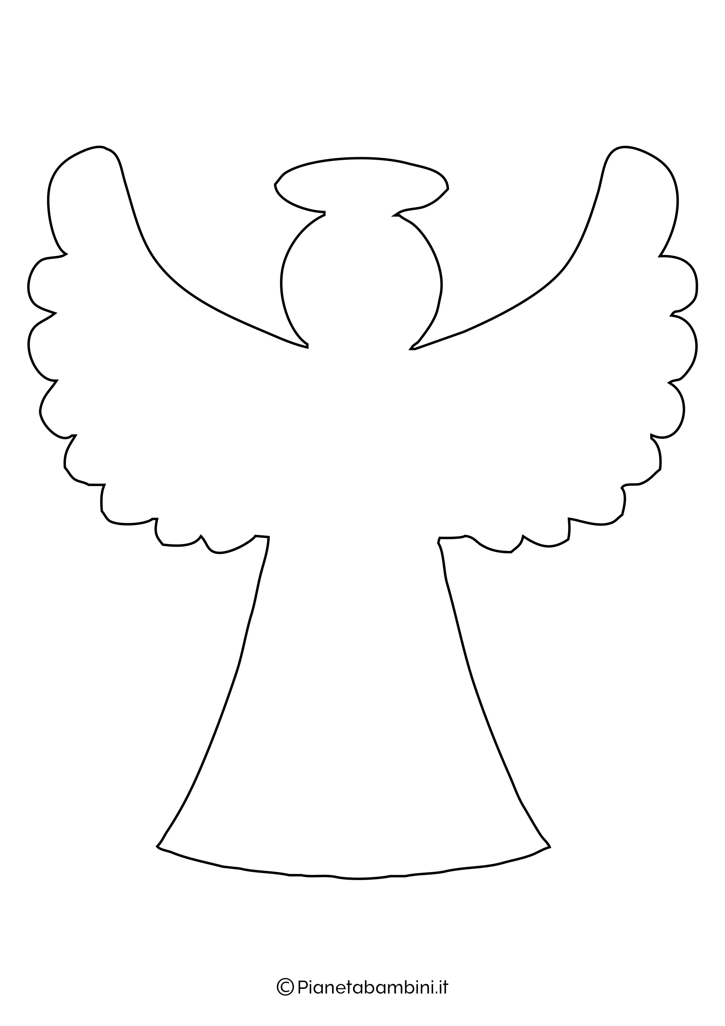Sagoma angelo da stampare 24