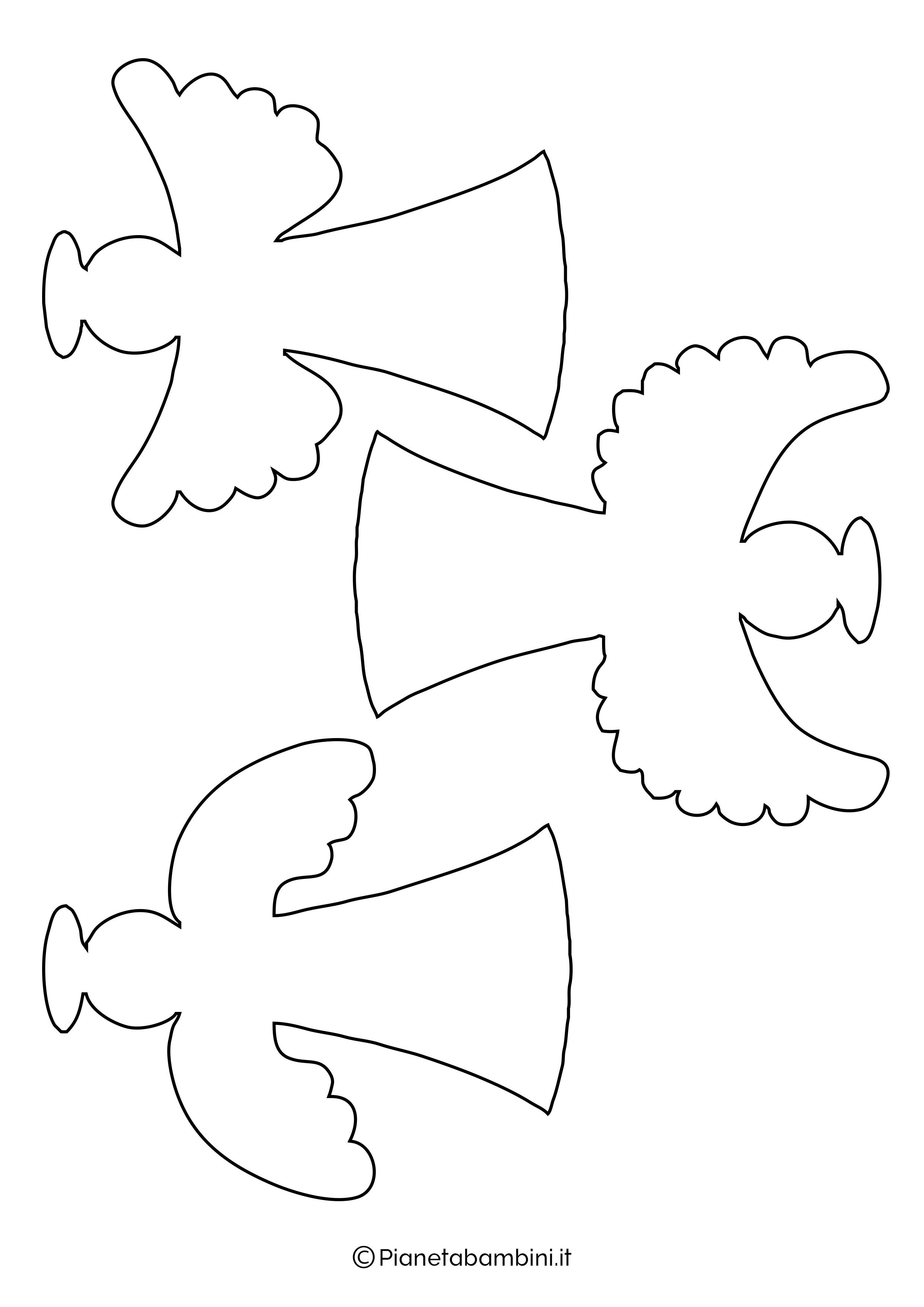 Sagoma angelo da stampare 27