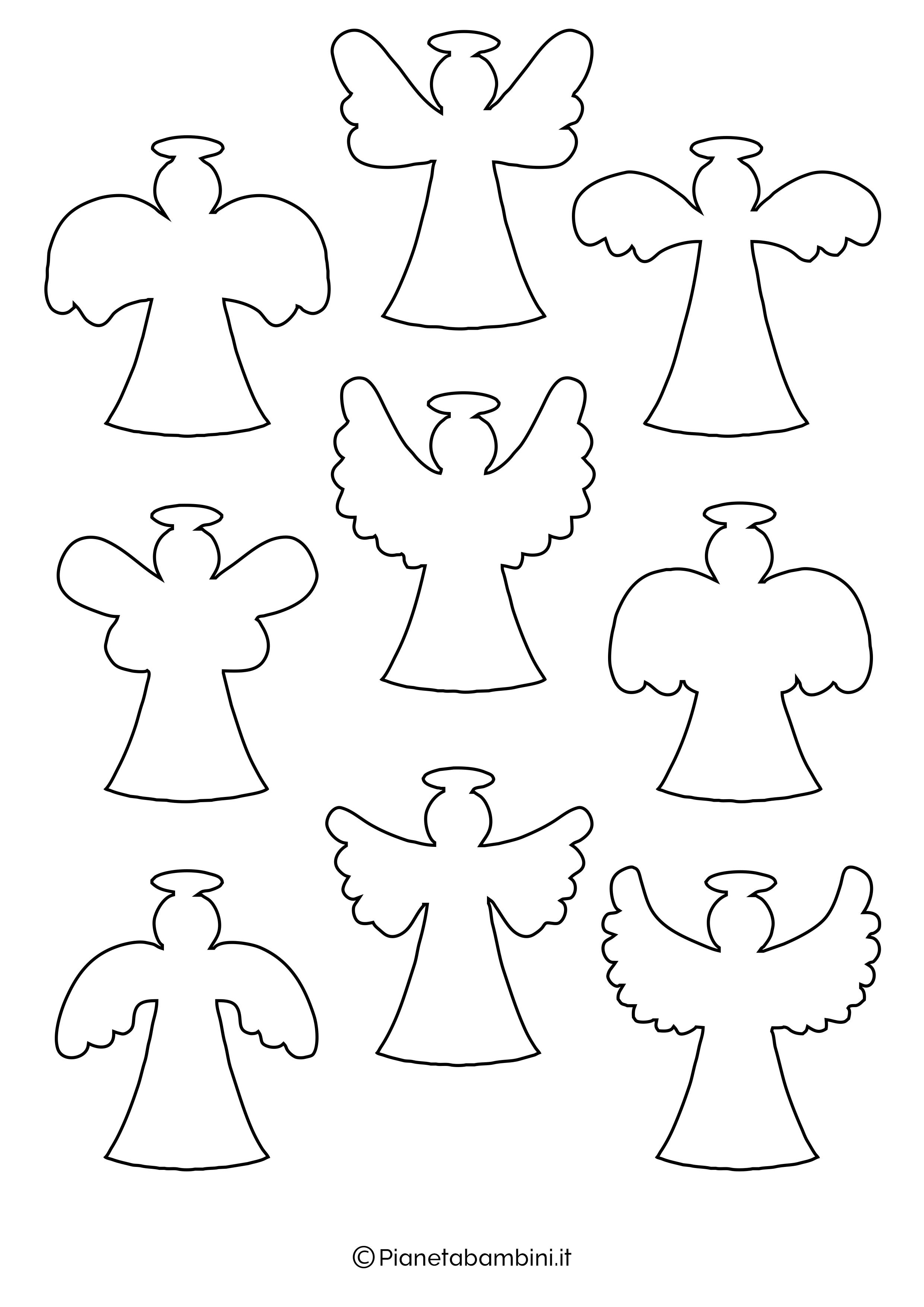 Sagoma angelo da stampare 28