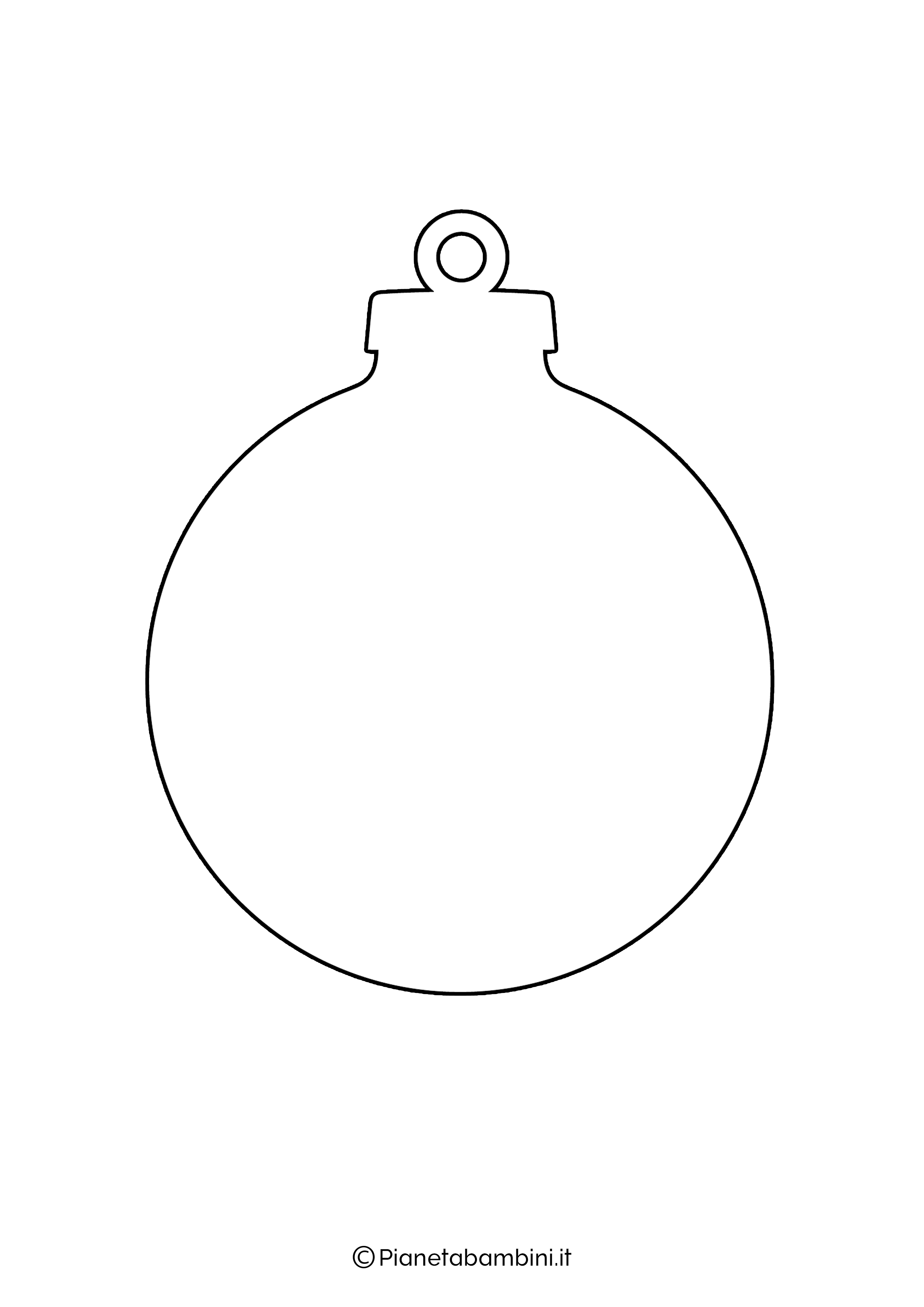 Sagoma pallina Natale da stampare 01