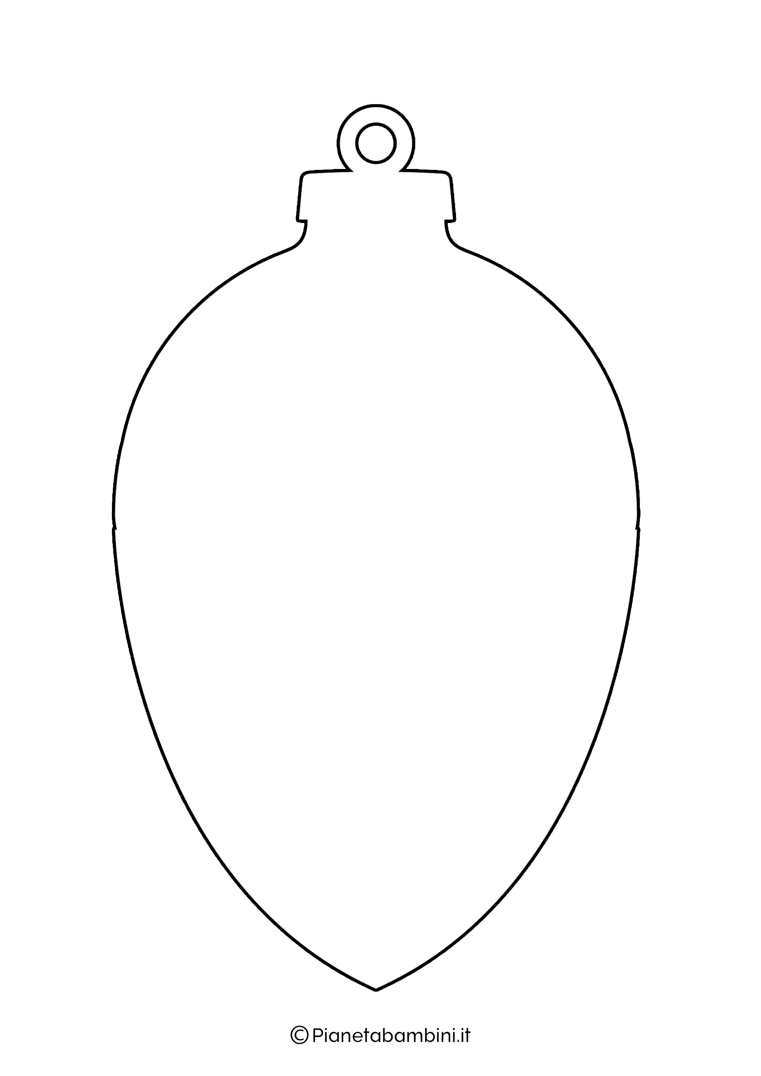 Sagoma pallina Natale da stampare 03
