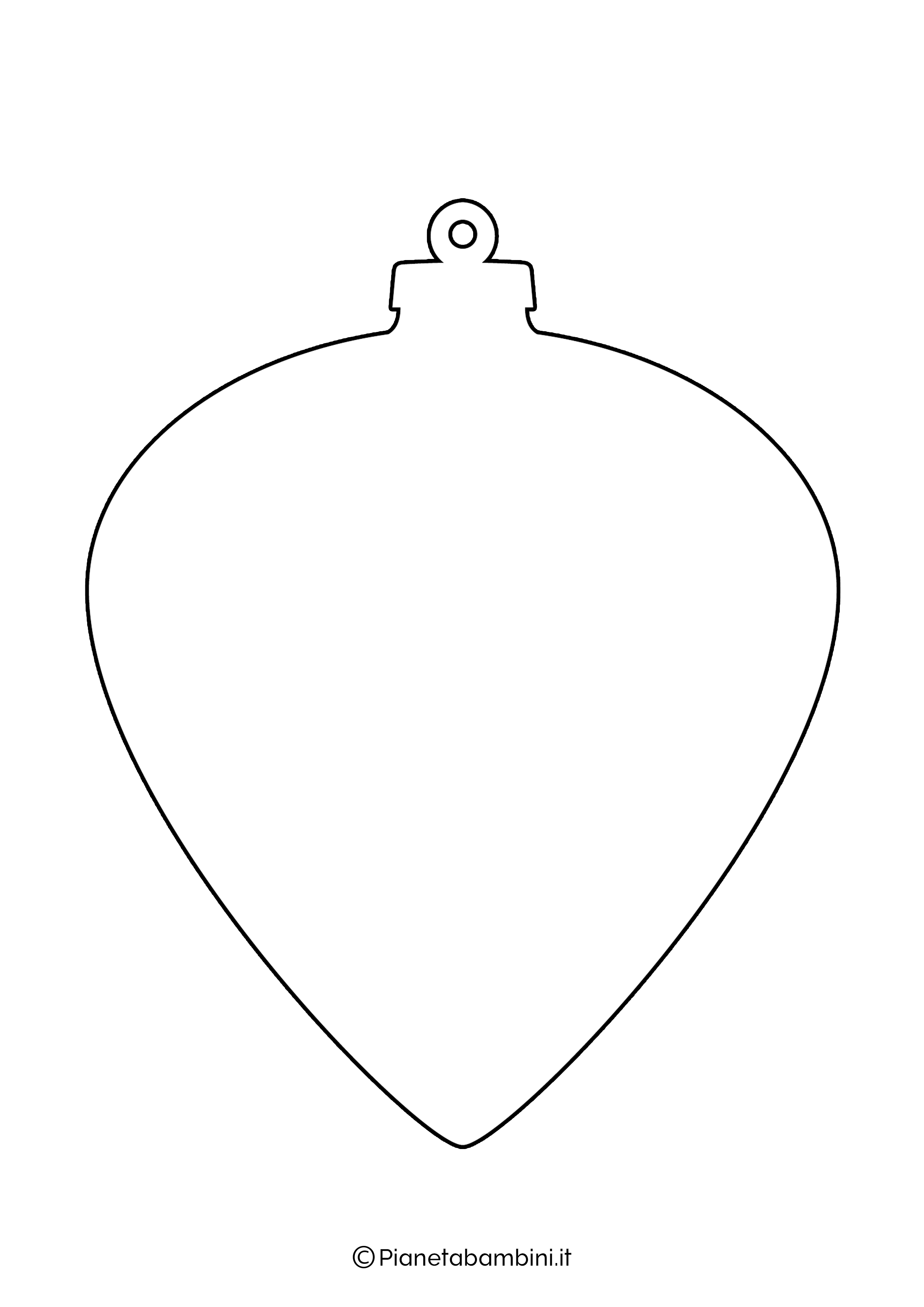 Sagoma pallina Natale da stampare 12