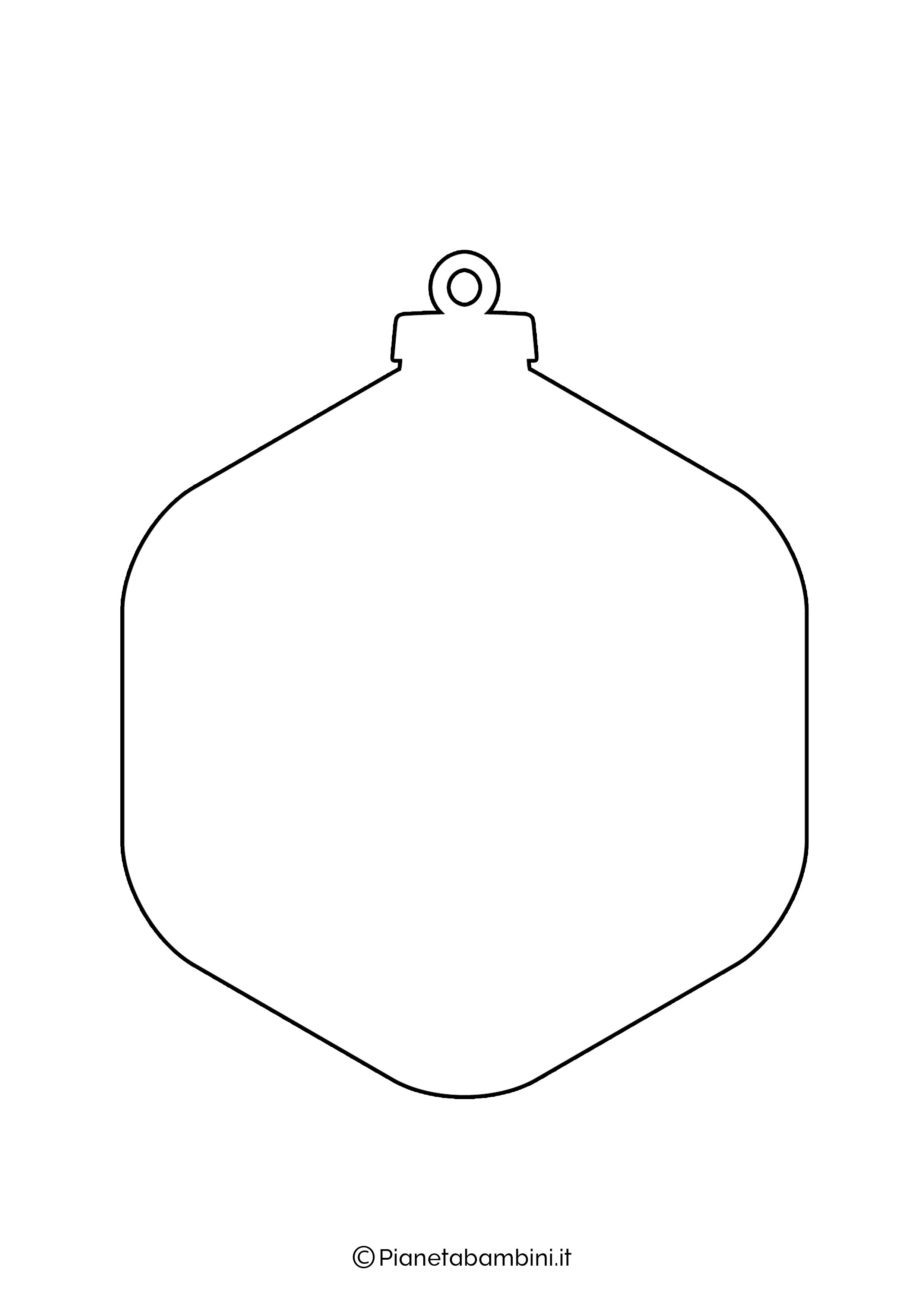 Sagoma pallina Natale da stampare 13