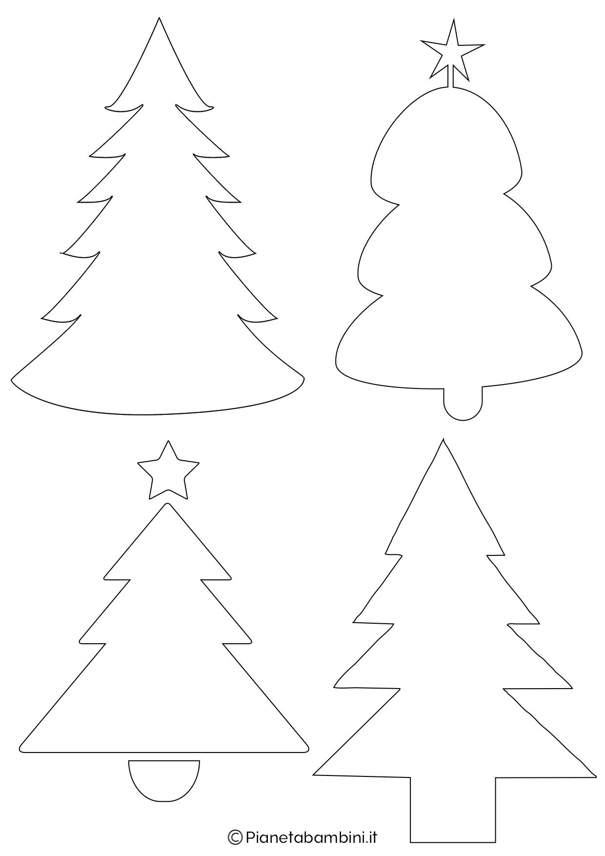 24 Sagome Di Alberi Di Natale Da Stampare E Ritagliare
