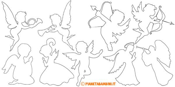 Sagome di angeli da stampare gratis per decorazioni e addobbi natalizi