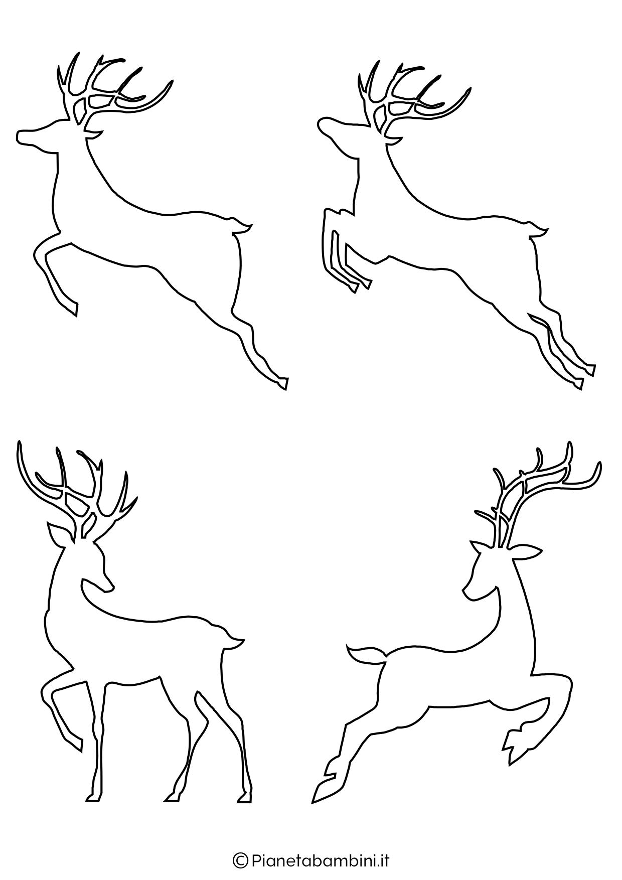 Sagome di renne da stampare e ritagliare