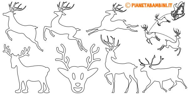 Sagome di renne da stampare gratis e ritagliare