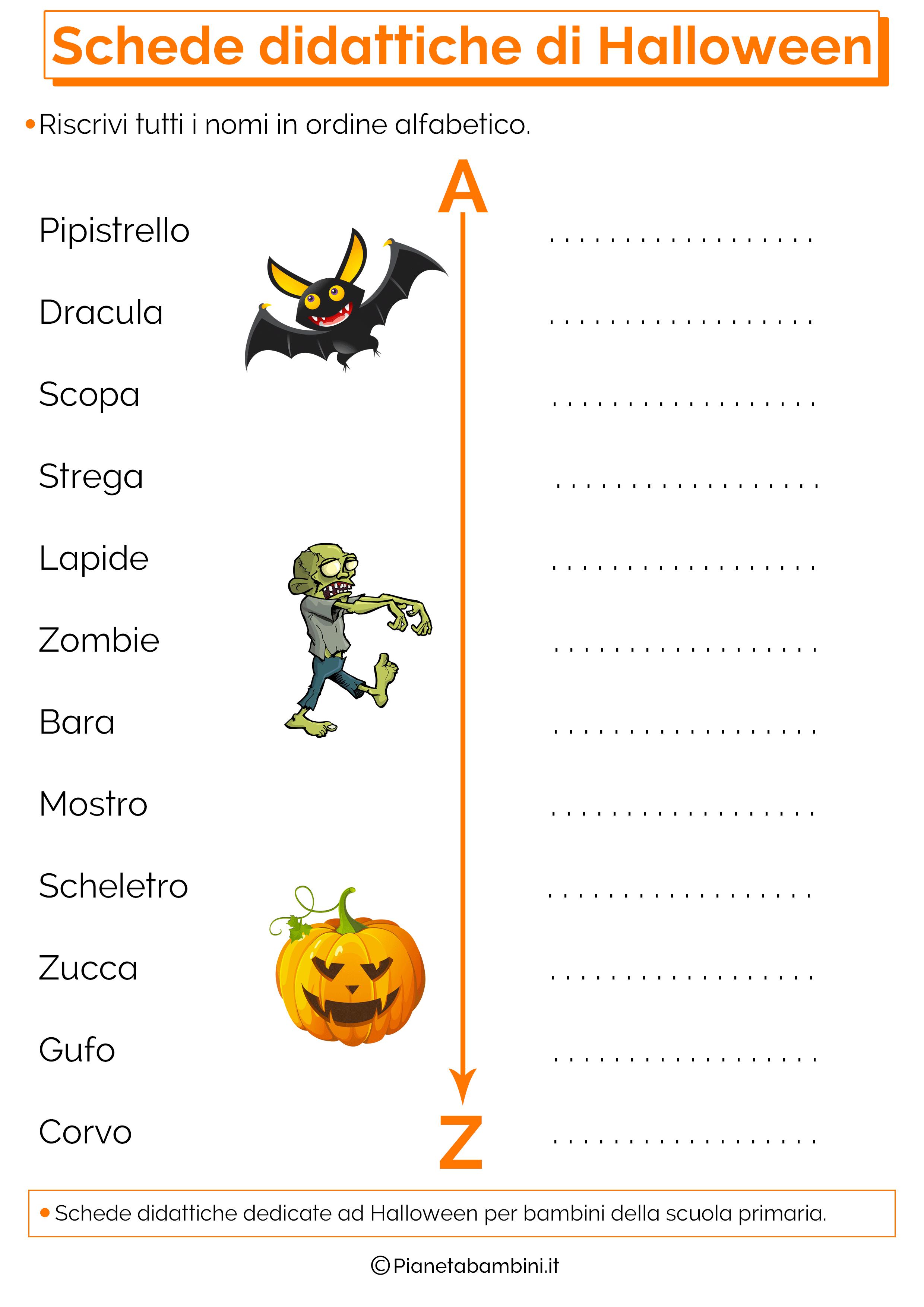 Schede didattiche di halloween per la scuola primaria - Immagini in francese per bambini ...