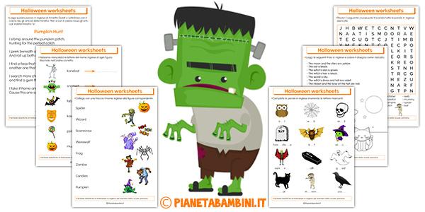 Schede didattiche di Halloween in inglese da stampare gratis per bambini