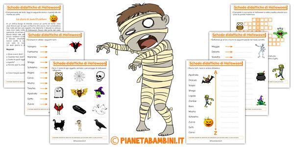 Schede didattiche di Halloween da stampare gratis