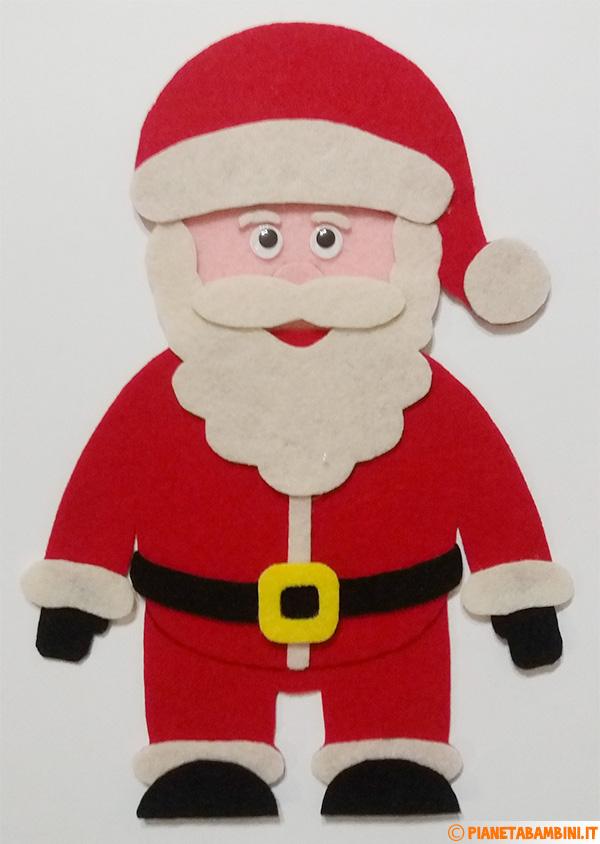 Babbo Natale in feltro fai da te