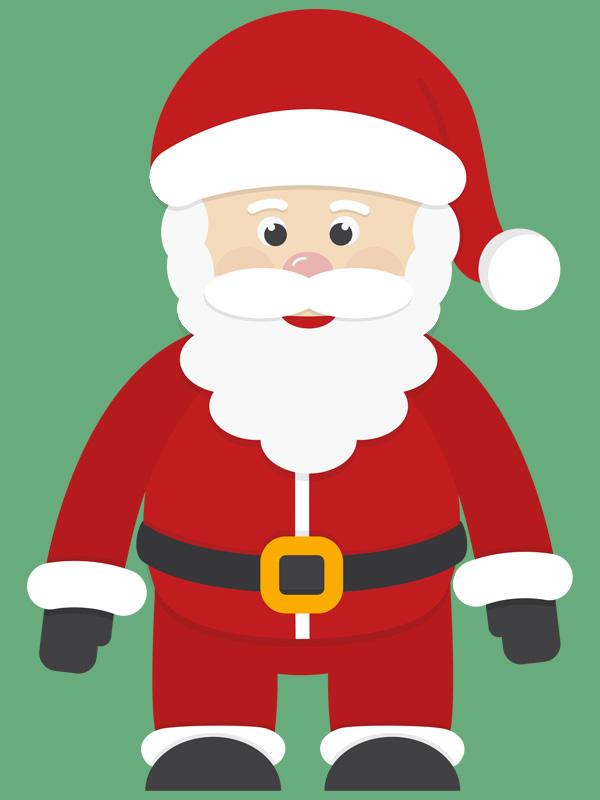 Babbo Natale colorato
