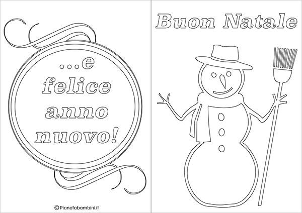 Modello di biglietto di Natale da stampare gratis e colorare n.02