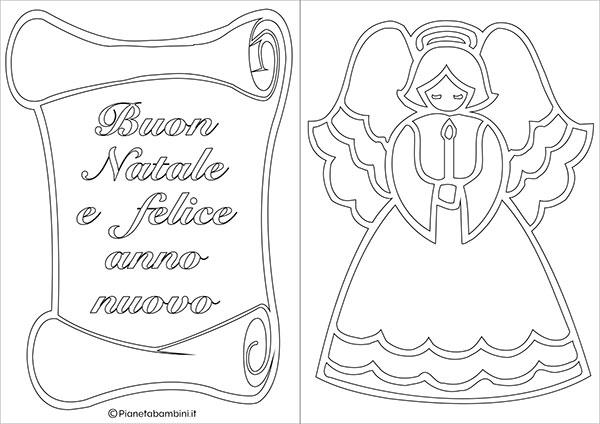 Modello di biglietto di Natale da stampare gratis e colorare n.03