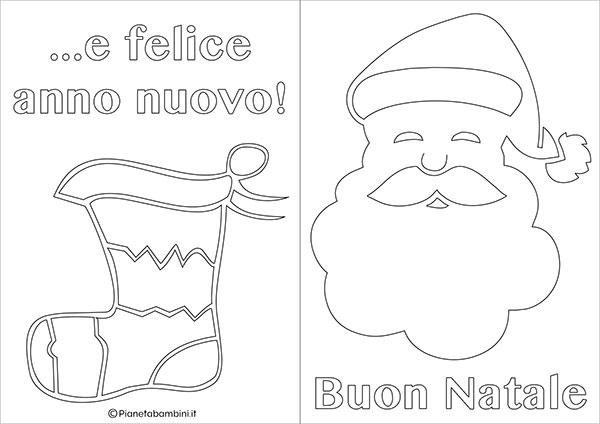 Modello di biglietto di Natale da stampare gratis e colorare n.05