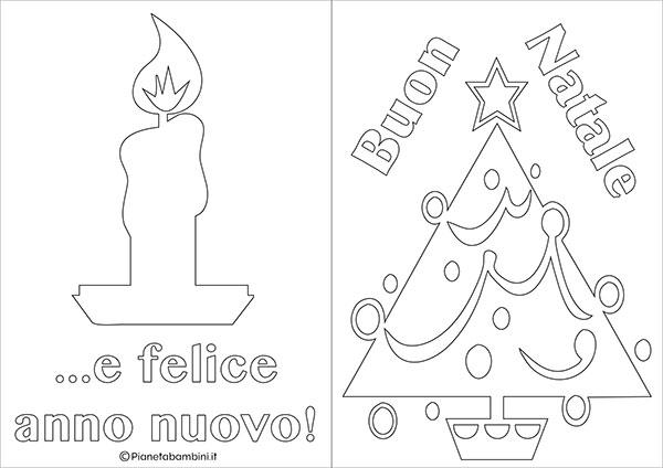Modello di biglietto di Natale da stampare gratis e colorare n.06