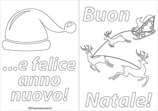 Modello di biglietto di Natale da stampare gratis e colorare n.09