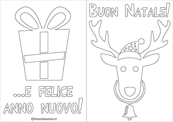 Modello di biglietto di Natale da stampare gratis e colorare n.10