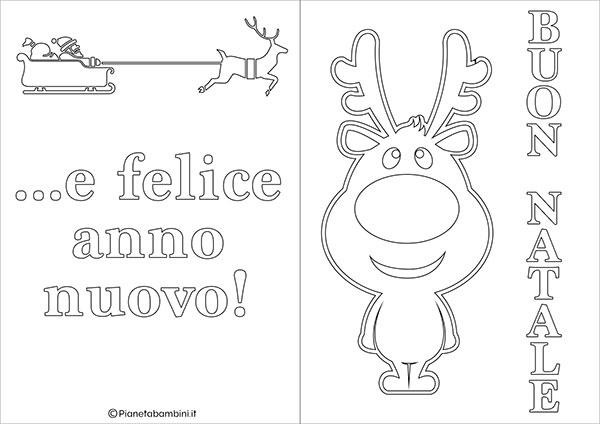 Modello di biglietto di Natale da stampare gratis e colorare n.12