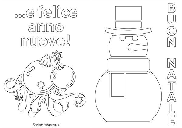 Modello di biglietto di Natale da stampare gratis e colorare n.13