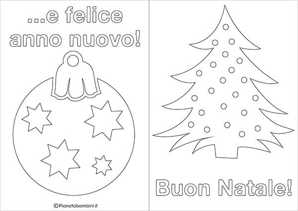 Modello di biglietto di Natale da stampare gratis e colorare n.14