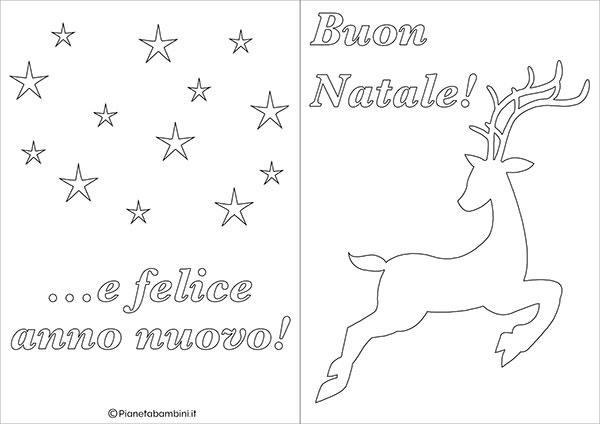 Modello di biglietto di Natale da stampare gratis e colorare n.18