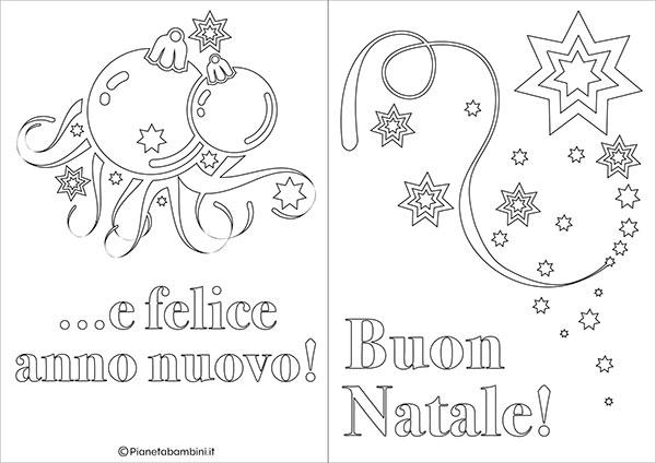 Modello di biglietto di Natale da stampare gratis e colorare n.19