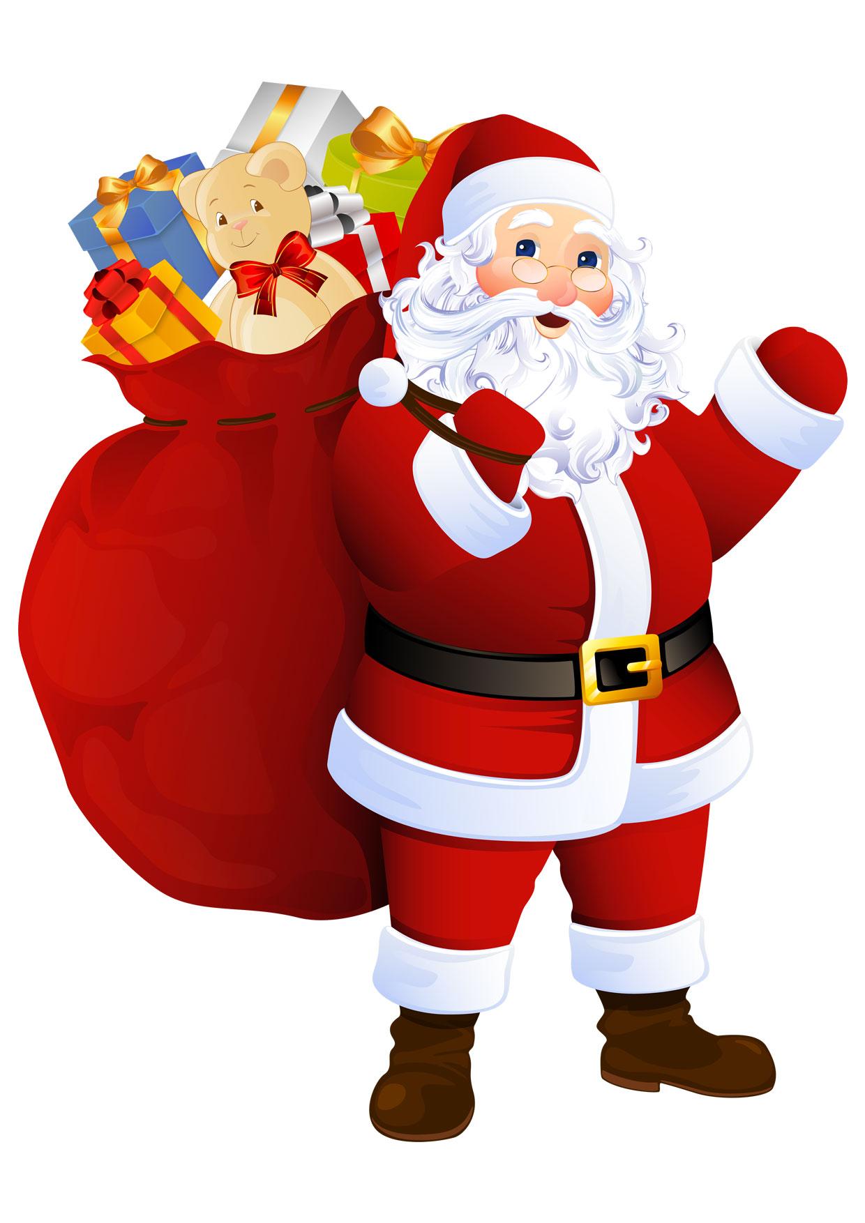 30 Disegni Di Babbo Natale Già Colorati Da Stampare Pianetabambiniit